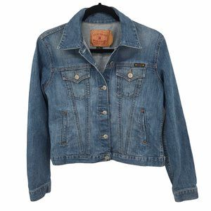 Lucky Brand Distressed Jean Jacket M